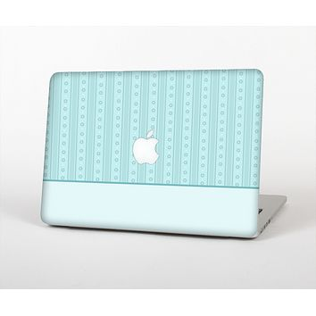 The Seamless Blue Subtle Floral Strips Skin for the Apple MacBook Air 13""