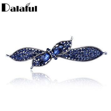 Unique Crystal Floral Bowknot Headwear Hair clip Barrette Hairpin Accessories Jewelry For Woman Girls Wedding F121
