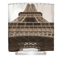 Vintage Eiffel Tower Shower Curtain for Sale by Ivy Ho