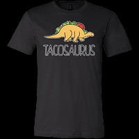 Taco mexican tacosaurus Men Short Sleeve Funny T Shirt - TL00611SS