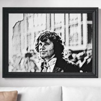 Jim Morisson Poster The Doors Art Painting Print