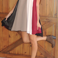 Andee Dress - burgundy