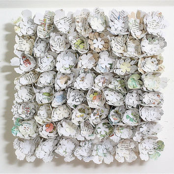 paper flower wall art canvas garden inspired fresh home by eclu