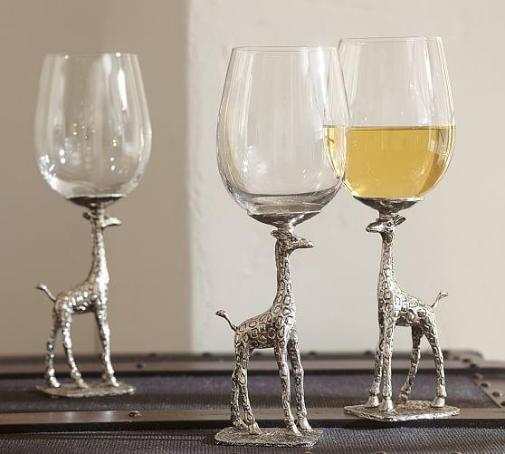 Giraffe Wine Glass Set Of 2 From Pottery Barn