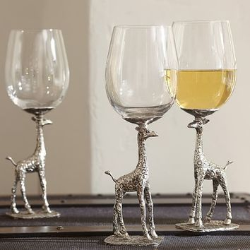 Giraffe Wine Glass, Set of 2