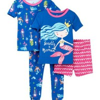 Night Life | Secretly A Mermaid Cotton PJ's - Set of 2 (Baby Girls)