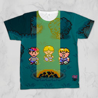 EarthBound Meteor Unisex Video Game Sublimation T-shirt