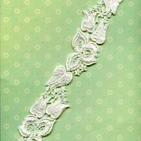 "Vintage White Guipure Floral Flower Lace Trim By the Yard 1.5"" Wide"