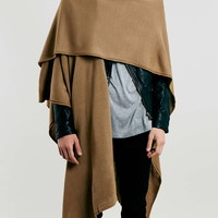 Camel Lightweight Knitted Cape