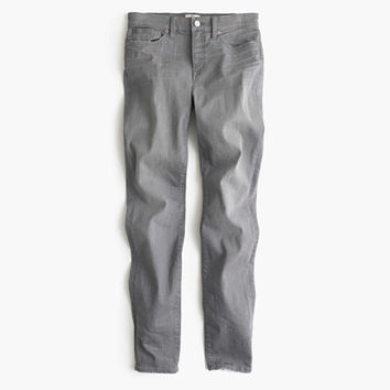 J.Crew Womens Petite Lookout High-Rise Jean In Medium Grey