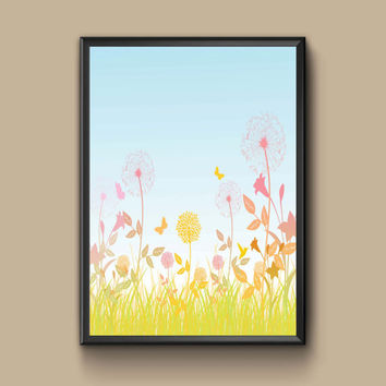 A lovely spring day wall art, perfect for a mothers day gift, 8x10, 11x14, 13x19
