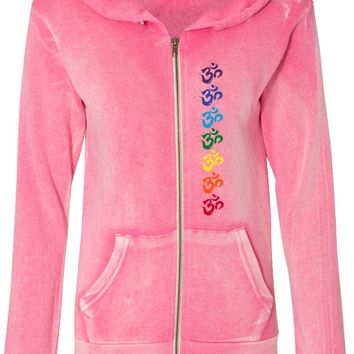 Chakra OMS Angel Fleece Full-Zip Yoga Hoodie