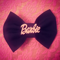 Barbie Hair Bow Barrette by littledevildecoxo on Etsy