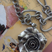 Iron Rose Metal Necklace
