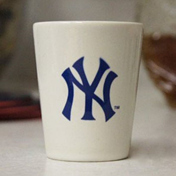 MLB New York Yankees 2oz. Souvenir Ceramic Shot Glass