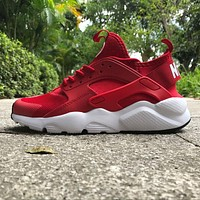 Best Online Sale Nike Air Huarache 4 Rainbow Ultra Breathe Men Women Hurache Red/White