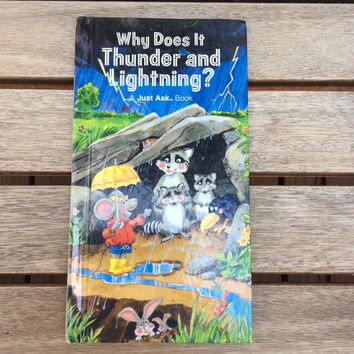 "Why Does It Thunder and Lightning?Vintage ""Just Ask"" Children's Book, 1985."