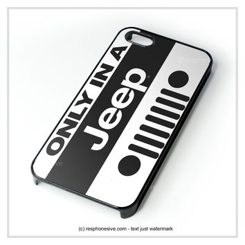 Classic Jeep Wrangler Logo iPhone 4 4S 5 5S 5C 6 6 Plus , iPod 4 5  , Samsung Galaxy S3 S4 S5 Note 3 Note 4 , and HTC One X M7 M8 Case