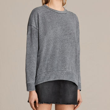 ALLSAINTS US: Womens Coni Loop Sweatshirt (Grey Marl)