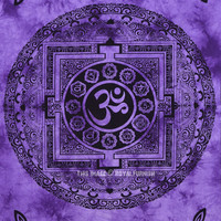 Purple Aum Yoga Meditation Om Symbol Tapestry Wall Hanging Tie Dye Bedding on RoyalFurnish.com