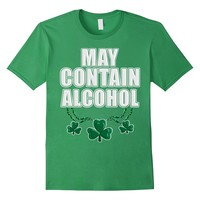 May Contain Alcohol St. Patrick's Day Drinking Tee