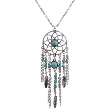 Dreamcatcher Pendant Mandala Lotus Necklace