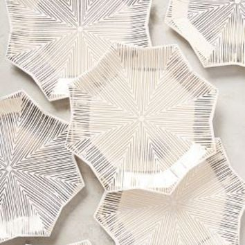 Starlight Paper Plates by Anthropologie in Gold Size: Set Of 8 Gifts