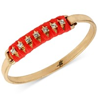 Kenneth Cole New York Gold-Tone Crystal Accent Coral Thread-Wrapped Bangle Bracelet