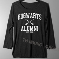 Hogwarts Alumni Shirt Harry Potter Shirt Magic Spell Shirts Long Sleeve TShirt T Shirt - Size S M L