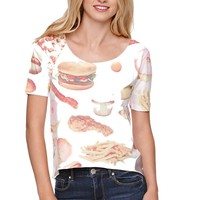 Rook Devil's Food Crop T-Shirt - Womens Tee - White