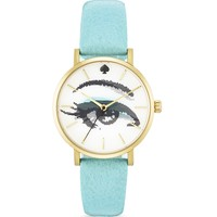 kate spade new york Blue Hologram Metro Watch, 34mm