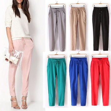 New Stylish Women Sweatpants Sport Haren Pants Trouser Slim Fit Casual Yoga [8403190855]