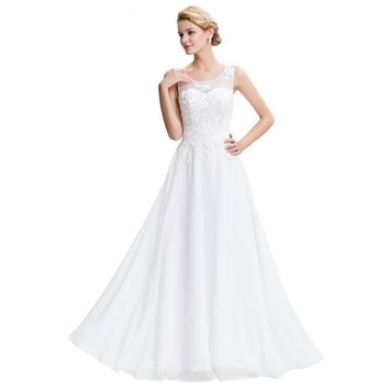 New Summer Sexy Long Formal Evening Dress White Chiffon Celebrity Evening Gowns Graduation Prom Dresses Pink