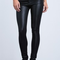 Rocket High Rise Skinny in Black Leatherette