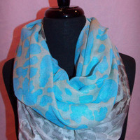 Blue Party Animal Infinity Scarf - Haute Pink Boutique