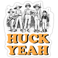'Huck Yeah!' Sticker by bustingthebox