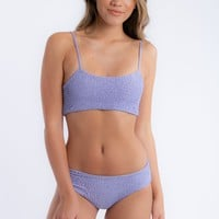 Shirred You Are Two Piece Swimsuit in Periwinkle