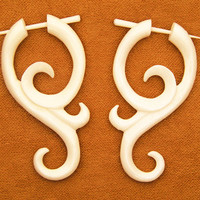 Bone Post Earrings - Salasa Curls