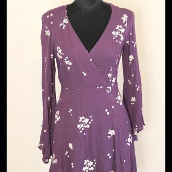 Free People Jasmine Purple Embroidered Dress