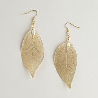 Gold Leaves Earrings - World Market