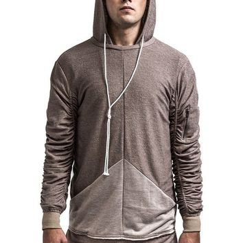KOLLAR CLOTHING THE WOOLY FRENCH TERRY HOODIE - TAUPE