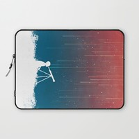 Meteor Rain (light version) Laptop Sleeve by Budi Kwan