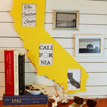 California state shaped picture frame 4x6 by @PineconeHome
