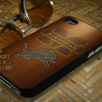 Michigan Lion Case for iPhone 4/4s/5/5c/5s, Samsung Galaxy S3/s4/s5
