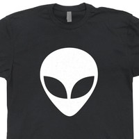 Alien Head T Shirt UFO Aliens T Shirt