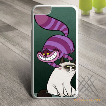 grumpy cat and cat cheshire Custom case for iPhone, iPod and iPad