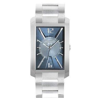 Kenneth Cole KC9150 Men's New York Rectangular Blue Dial Stainless Steel Watch
