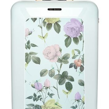 Ted Baker London 'Large Rose' Hard Shell Suitcase - White (32 Inch)