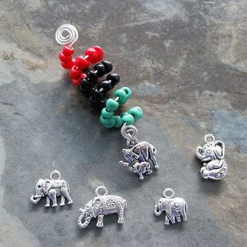 Dreadlock Jewelry, Elephant Wire wrapped, Beaded, hair accessory, ethnic jewelry......Choose a style