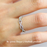 Pure White infinity Ring Cubic ZirconiaWedding Jewelry Engagement Eternity bridesmaid Band.